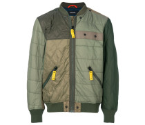 patchwork bomber jacket