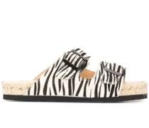 'Nordic' Sandalen mit Zebra-Print