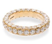 18kt Gelbgoldring mit weißen Diamanten