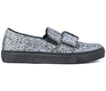 Slip-On-Loafer mit Glitzereffekt