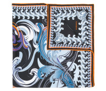 Swirl Baroque print foulard