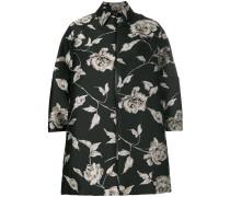 Oversized-Jacke mit Blumen-Print