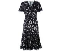 Gepunktetes Kleid mit Spitzendetails