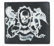 Portemonnaie mit Wappen-Print