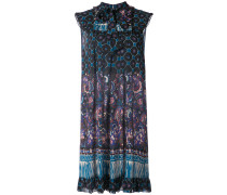 paisley print flared dress
