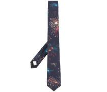 firework printed tie - men - Seide