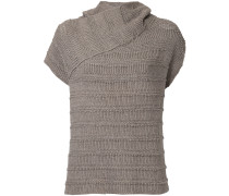 Laddered knit jumper