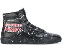 High-Top-Sneakers mit Farbklecks-Print
