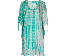 v-neck printed kaftan