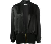 silk bomber jacket - women