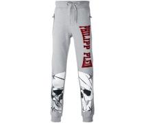 skull print jogging pants - men - Baumwolle - S