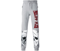 skull print jogging pants - men - Baumwolle - XL
