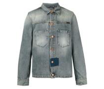 Jeansjacke mit dunklem Patch - men - Baumwolle