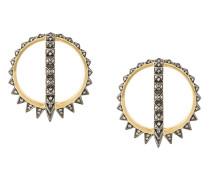 18kt gold Merkaba Creoles earrings