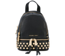 - metallic backpack - women - Kalbsleder