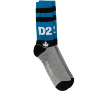 D2 embroidered socks