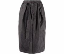 box-pleat wide-leg trousers