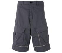 zipped details cargo shorts - men
