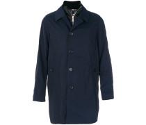 Einreihiger Mantel mit Dauneneinsatz