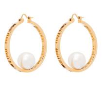 Klassische Creolen mit Perlen