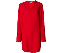 Kastiges Kleid mit V-Ausschnitt