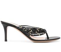Stiletto-Sandalen mit Perlen