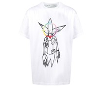 """T-Shirt mit """"Futura Alien""""-Print"""