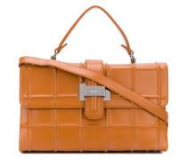 Rechteckige Handtasche mit Logo-Prägung