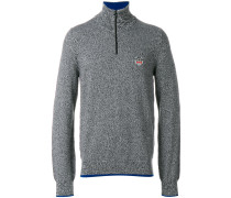 Tiger crest zipped sweater