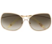 Oversized-Sonnenbrille mit quadratischem