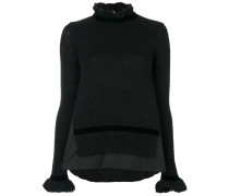 frilled high neck sweater