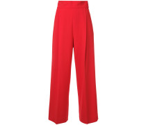flared high-waisted trousers