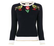 bird embroidered jumper