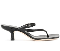 Desire creased-leather sandals