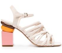Sandalen mit Design-Absatz