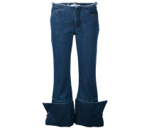 Cropped-Jeans mit umgeschlagenem Saum