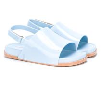 open-toe varnished sandals