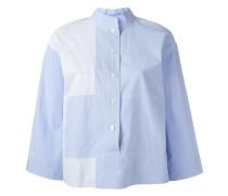 Gestreiftes Hemd mit Mandarinkragen