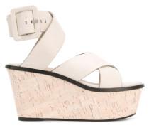 - crossover wedge sandals - women