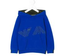 logo embossed hoodie
