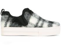 Kariertes Slip-On-Sneakers