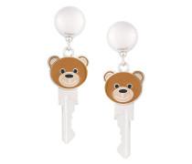 teddy bear clip on earrings