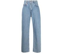 Wide-Leg-Jeans mit hohem Bund