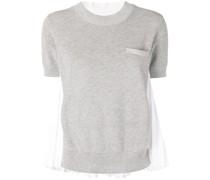 T-Shirt mit plissiertem Rücken