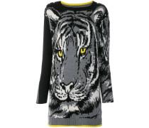 Gestricktes Kleid mit Tiger-Motiv