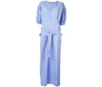 Gestreiftes Oversized-Kleid mit Gürtel