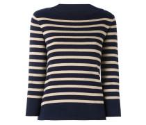 boat neck striped jumper