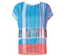 Gewebtes T-Shirt mit Farbverlauf