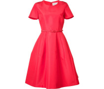 Ausgestelltes Kleid mit Gürtel - women - Seide