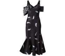 Kleid mit Federn-Print